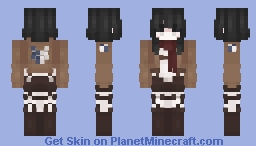 mikasa! ♡ 進撃の巨人 Minecraft Skin