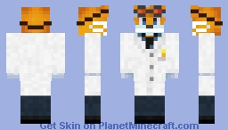 Tails Boom with surgeon mask and stuff Minecraft Skin