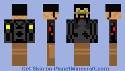 Adam Jensen Combat Gear Minecraft Skin