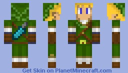 Adult Link (Shaded) Minecraft Skin