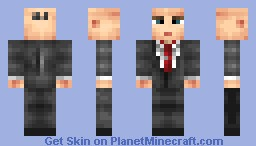 Agent 47 - Hitman Absolution Minecraft Skin