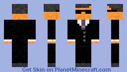 Secret Agent in Black Minecraft Skin