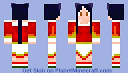 Ahri from league of legends Minecraft Skin
