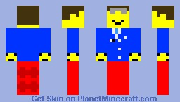 Lego Airport Worker Minecraft Skin