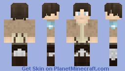 =Attack on Titan= -Eren Yeager- Minecraft Skin
