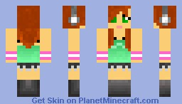 Anime Girl, (Headphones) Minecraft Skin
