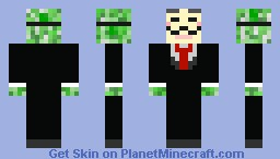 Anonymous Creeper Minecraft Skin