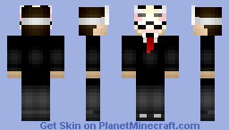 Anonymous(Girl ver. on desc.) Minecraft Skin