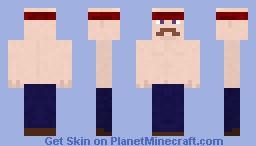 Macho muscle man Minecraft Skin