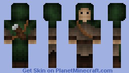 Medieval Archer - 15 diamonds? - (Hood is better in 3D preview!) Minecraft Skin