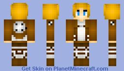 Armin Attack On Titan Minecraft Skin