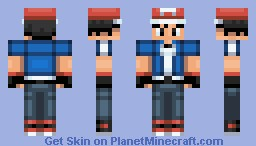Ash Ketchum (Pokemon X and Y: The Series) (MinecraftXyo Request) (Great in Preview) Minecraft Skin