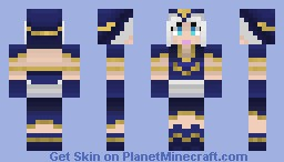 Ashe - The Frost Archer (Arctic Creatures Skin Contest) (Classic Skin) (Better in Game) (3D) (Skin-Tastic!) (Cape-Less) (League Of Legends) Minecraft Skin