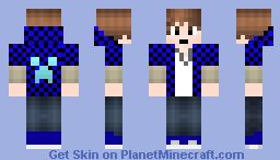 Blue Bajan Canadian Minecraft Skin