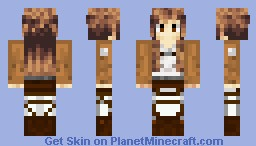 SAO Asuna Attack on Titan Minecraft Skin