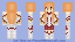 Asuna Sword Art Online Skin Series Minecraft Skin