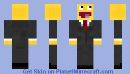 Awesome Face Suited Minecraft Skin