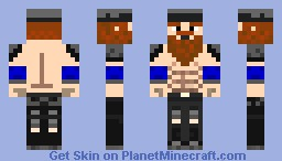 Blue Viking Minecraft Skin