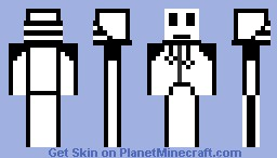 B&W hoddie box guy thing Minecraft Skin