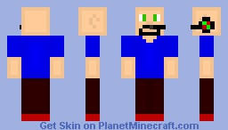 Bob The Bald Gamer -With Backstory- For New Years Eve Contest Minecraft Skin