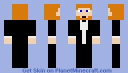Ginger Hair + Beard Wearing Suit Minecraft Skin