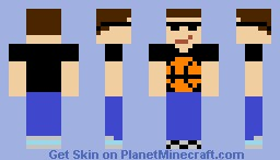 Awesome Guy with sunglasses and basketball shirt Minecraft Skin