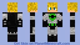Bayselb1996 in a Green Batman Suit Minecraft Skin