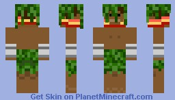 Forest guy with leaves Minecraft Skin
