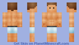 Shaded Bodybuilder In Underwear Minecraft Skin