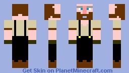 [Don] Bill The Farmer [3D Beard] [Bill Series] Minecraft Skin
