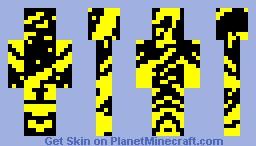 BLACK AND YELLOW!!!!!!!!!! Minecraft Skin