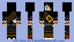 Black Hooded Roxas Minecraft Skin