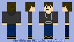 Black Hoodie Minecraft Skin