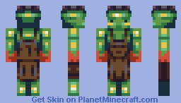 Blacksmith zombie [Made with Bryroz 13 colour palette] Minecraft Skin