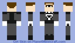Black Lantern (Hal Jordan) Minecraft Skin