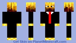 Blaze in a Suit Minecraft Skin