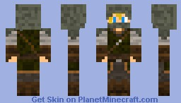 Hooded Elven Archer (Blonde Hair) [FIXED] Minecraft Skin