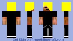 Blonde Emo Minecraft Skin