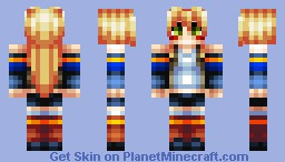 Blonde Haired Anime Warrior Girl Minecraft Skin