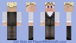 Blonde guy in vest Minecraft Skin