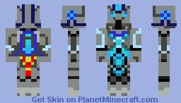 Blue Miner Droid Minecraft Skin