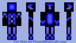 Blue Nano Ninja Minecraft Skin