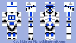 Blue Clone Trooper Minecraft Skin
