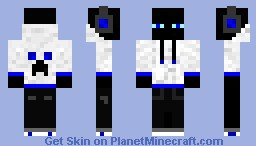 Enderman in a hoodie (Blue Variant) Minecraft