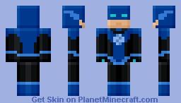 Blue Flash Lantern - Blocky (my first blocky skin!) Minecraft