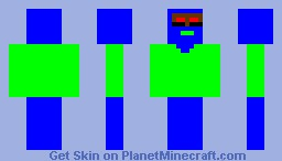 Blue Guy with Sweater Minecraft Skin