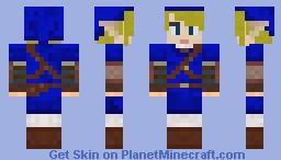 Aqua Link Minecraft Skin