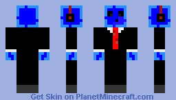 Blue Slime w/ Headphones Minecraft Skin