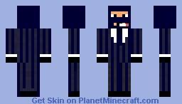 Blue TF2 Spy Minecraft Skin