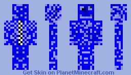 Blue Suit MAN Minecraft Skin